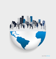 City with modern design globe vector image vector image