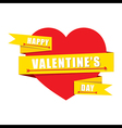 creative valentines greeting design or share love vector image vector image