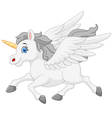 cute running unicorn vector image vector image
