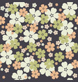 cute seamless pattern with tender flowers on vector image