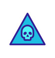 cyber attack icon isolated contour symbol vector image vector image