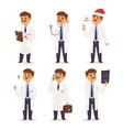 doctor nurse character medical man staff vector image vector image