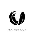 feather logo icon template vector image vector image