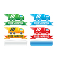 Free Shipping Trucks Ribbons And Extra Buttons vector image vector image