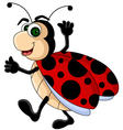 funny Ladybug cartoon vector image vector image