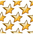 Golden stars seamless festive pattern vector image