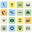holiday icons set with worship kareem rub el vector image
