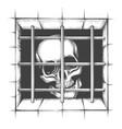 jail skull tattoo vector image vector image