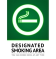 Label smoking place sticker vector image vector image