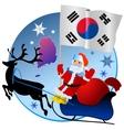 Merry Christmas South Korea vector image