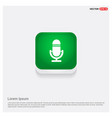 microphone icon green web button vector image