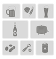monochrome set with beer icons vector image vector image