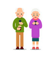 old people with phone elderly persons man and vector image vector image