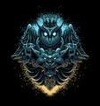 owl lion head vector image