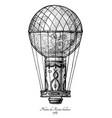pilatre de rozier balloon vector image vector image