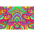 psychedelic colorful surreal doodle waves pattern vector image vector image