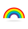 Rainbow symbol Seven flat colors Isolated on a vector image vector image