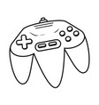 retro video game cartoon vector image