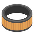 round air filter icon isometric style