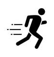 running man glyph icon vector image vector image