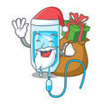 santa with gift infussion bottle mascot cartoon vector image vector image