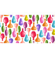 seamless texture with realistic colorful vases vector image vector image