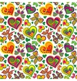 Seamless valentine pattern with vintage colorful vector image vector image