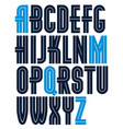 set of bold capital alphabet letters made with vector image vector image