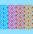 set of seamless patterns with vivid abstract vector image vector image