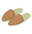 slippers icon isometric 3d style vector image vector image
