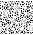 Soccer game seamless pattern with football balls vector image vector image