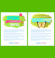 spring big sale 50 45 off advertisement labels set vector image