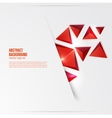 squares Abstract background red vector image vector image