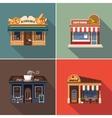 Stores and Shop Facades Set vector image