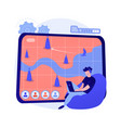 strategy online games abstract concept vector image vector image