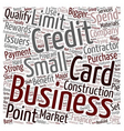 The Lowdown on Contractors Business Credit Cards vector image vector image