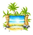 Travel banner with paper vector image vector image