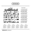 traveler explorer icon set info graphic icon vector image vector image