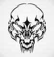 Tribal Scary Skulls vector image vector image