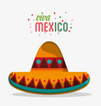 viva mexico traditional hat party vector image