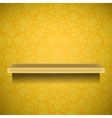 Emty Yellow Shelf vector image