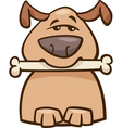 mood busy dog cartoon vector image