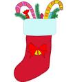 Christmas stocking vector image