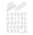 isometric english letters in linear style vector image