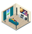 a contemporary home theater room digitally vector image vector image