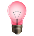 A pink light bulb vector image vector image