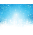 Abstract blue white Christmas winter vector image vector image