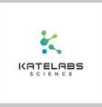 alphabet initial letter k molecule logo design vector image vector image