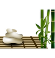Bamboo and stones vector image vector image
