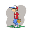 base ball player cartoon vector image